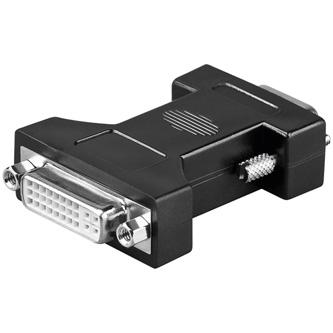 Video Redukce, DVI na VGA, DVI (24+5) F-VGA (15) M, 0, bílá
