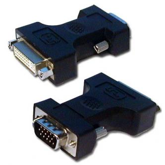 Video Redukce, DVI (24+5) F-VGA (D-Sub) M, 0, bílá, Logo