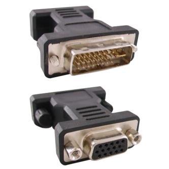 Video Redukce, DVI (24+5) M-VGA(D-sub) F, 0, černá, Logo