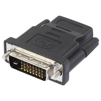 Video Redukce, DVI (24+1) M-HDMI F, 0, černá, Logo