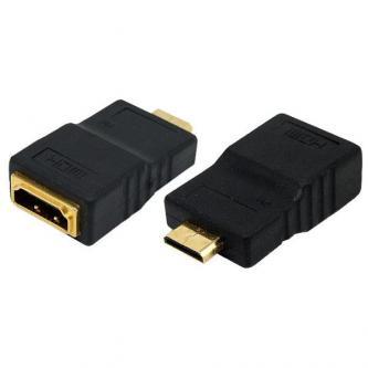 Audio/video Redukce, HDMI (mini) M-HDMI F, 0, černá, Logo