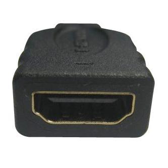 Audio/video Redukce, HDMI (micro) M-HDMI F, 0, černá, Logo, zlacené konektory