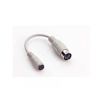 Klávesnice Redukce, 5 pin M-PS/2 F, 0.09, bílá, Logo, s kabelem