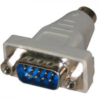 Myš Redukce, sériový port, PS/2 M-9 pin M, 0, šedá, Logo