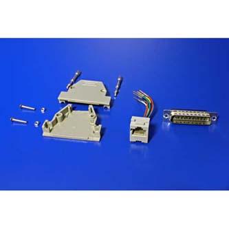PC Redukce, paralelní port na LAN, 25 pin M-RJ45 F, 0, šedá