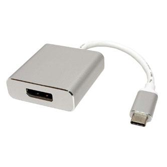 USB (3.1) Adaptér, USB C (3.1) M-DisplayPort F, 0, stříbrný, plastic bag, 4K2K@60Hz