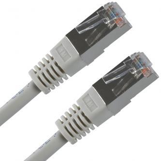 FTP patchcord, Cat.5e, RJ45 M-1m, stíněný, šedý, economy