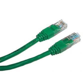UTP patchcord, Cat.5e, RJ45 M-1m, nestíněný, zelený, economy