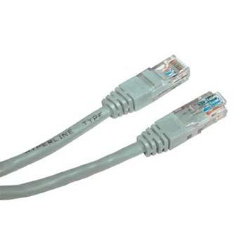 UTP patchcord, Cat.5e, RJ45 M-0.25m, nestíněný, šedý, economy