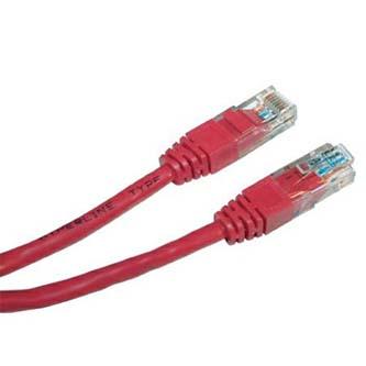 UTP patchcord, Cat.6, RJ45 M-0.5m, nestíněný, červený, economy