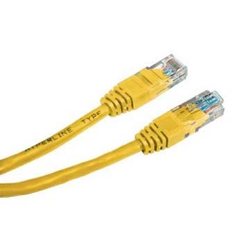 UTP patchcord, Cat.6, RJ45 M-0.5m, nestíněný, žlutý, economy