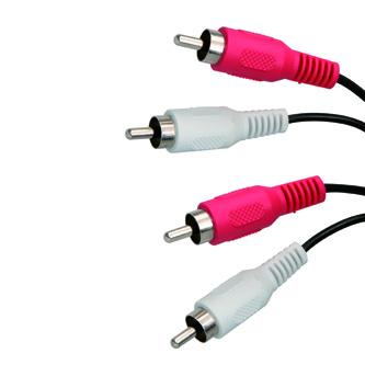 Kabel Cinch 2x M- Cinch 2x M, 1.5m, černá, Logo, blistr