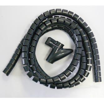 Svazkovací spirála, 15-50mm, černá, 2.5m, (15mm pr.), Logo