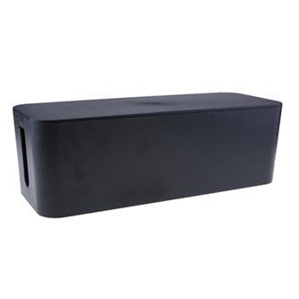 Organizér kabelů, box, černý, 400x135x155mm