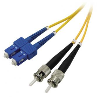 Optický PatchCord Single mode (9/125), ST/SC, 1m, economy