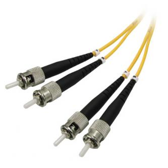 Optický PatchCord Single mode (9/125), ST/ST, 2m, economy