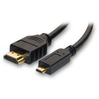 Kabel HDMI M- HDMI (micro) M, High Speed, 1m, černá