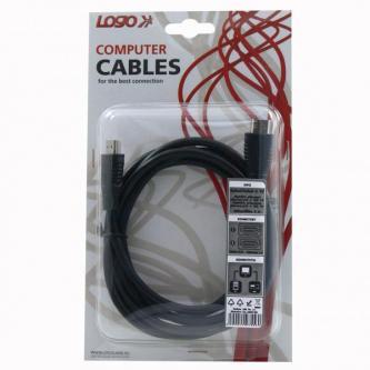 Kabel HDMI M- HDMI M, HDMI HIGH SPEED with ETHERNET, 2m, černá, Logo, blistr