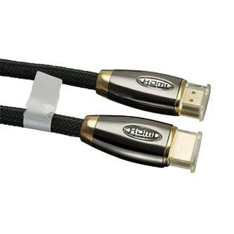 Kabel HDMI M- HDMI M, High Speed, 2m, zlacené konektory, černý