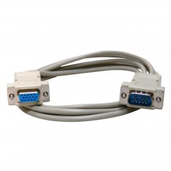 Kabel VGA (D-sub) M- VGA (D-sub) F, 2m, šedá