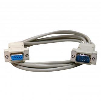 Kabel VGA (D-sub) M- VGA (D-sub) F, 2m, šedá, Logo