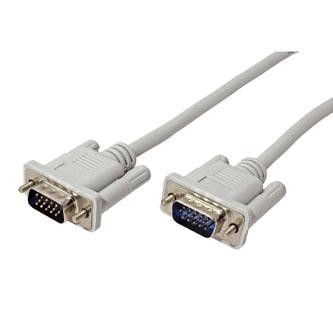 Kabel VGA (D-sub) M- VGA (D-sub) F, VGA, 2m, šedá
