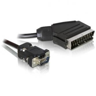 Kabel VGA (D-sub) M- Scart M, 2m, černá