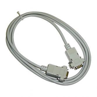 Datový kabel sériový RS-232, 9 pin M- 9 pin F, 2m, prodlužovací, šedý, CC1336