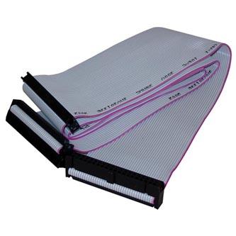 Kabel k hardisku datový ATA 100, ATA M- ATA 3x F, 0.45m, 40 žil, ATA100, šedý, Logo