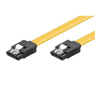 Kabel k hardisku datový SATA, SATA M- SATA M, 0.5m, žlutý, 6 Gb/s