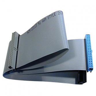 Kabel k hardisku datový ATA 100, 0.7m, 40 žil, ATA100, plochý, šedý, Logo