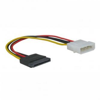 """Kabel k hardisku napájecí, DC SATA M- DC 5,25"""" M, 0.2m, color, Logo"""