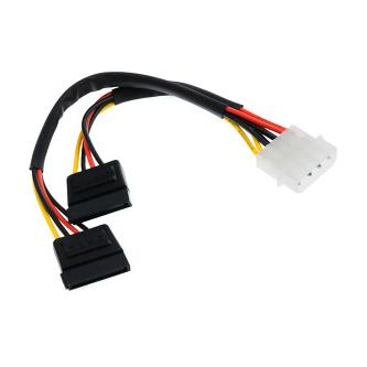 """Kabel k hardisku napájecí, DC SATA 2x M- DC 5,25"""" M, 0.2m, color"""