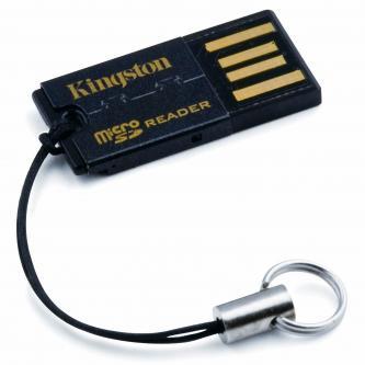 Kingston Čtečka (2.0), microSD, microSDHC, externí, černá, Windows 2000 SP3/XP SP1/Vista/Mac OS 10.x