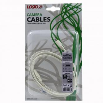 Kabel USB (2.0), USB A M- 4 pin M, 1.8m, černý, Logo, blistr
