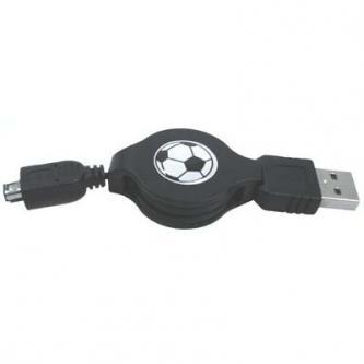 Kabel USB (1.1), USB A  M- 4 pin M, 0.7m, černý, Logo, HIROSE
