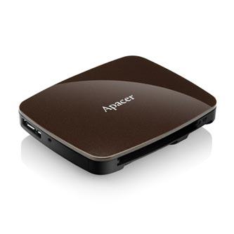 Apacer čtečka paměťových karet USB (3.0), AM530, microSD, SD,Compact Flash,Memory Stick PRO, externí, hnědá