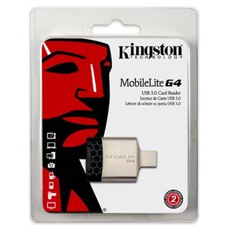 Čtečka Kingston MobileLite G4 USB (3.0), externí, černo-stříbrná