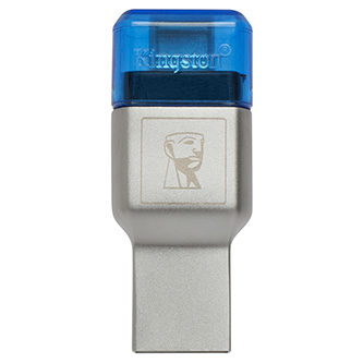 Kingston čtečka USB 3.0 (3.2 Gen 1), MobileLite Duo 3C, microSD, externí, modrá, konektory USB A / USB C