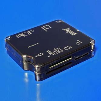 Čtečka (2.0), micro/SD/SDHC/SDXC/T-Flash/xD/MS/M2/CF, externí, černá, Windows 2000/ME/XP/Vista/7
