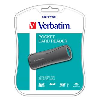 Verbatim čtečka paměťových karet USB (2.0), SD, miniSD, microSD, MMC, externí, šedá