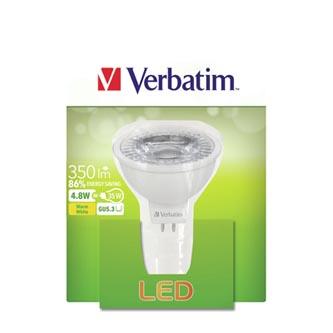 LED žárovka Verbatim GU5.3, 52646, 12V, 4.8W, 350lm, 2700k, teplá, 20000h