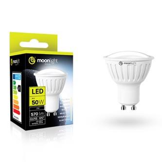 LED žárovka Moonlight GU10, 220-240V, 3W, 240lm, 3000k, teplá, 25000h, 2835, 50mm/54mm