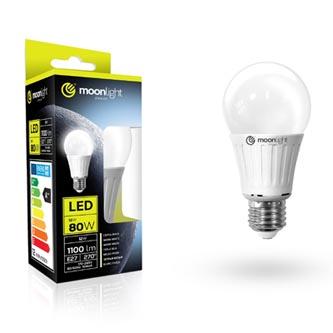 LED žárovka Moonlight E27, 220-240V, 8W, 680lm, 3000k, teplá, 25000h, 2835, 60mm/120mm