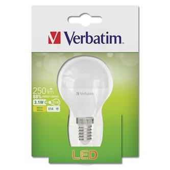 LED žárovka Verbatim E14, 52639, 220-240V, 3.1W, 250lm, 2700k, teplá, 20000h, 2835, 50mm/54mm
