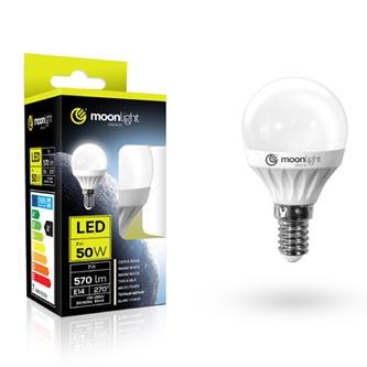 LED žárovka Moonlight E14, 220-240V, 3W, 240lm, 6000k, studená, 25000h, 2835, 45mm/83mm