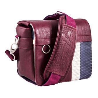 Taška na fotoaparát, eko kůže/polyester, červená, Urban Nomad Earth S, s popruhem, Smile