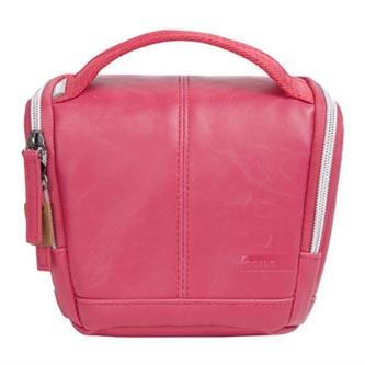 Taška na fotoaparát, imitace kůže, růžová, Eliot Mirrorless S, s popruhem, Golla