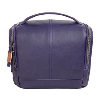 Taška na fotoaparát, imitace kůže, fialová, Eliot Mirrorless M, s popruhem, Golla