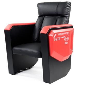 Herní sofa E-Blue COBRA, černo-červená, pevná